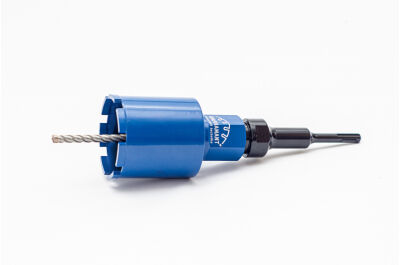 Elektro set - jádrový vrták + adapter SDS plus + vodící trn